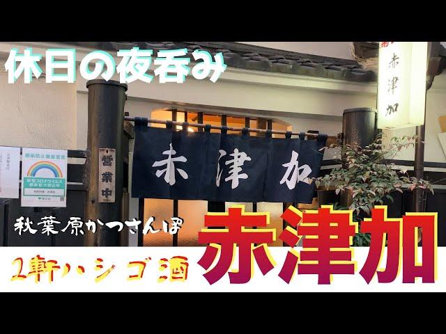 【秋葉原かつさんぽ】「赤津加」「ゴーゴーカレー」2軒ハシゴ呑み食い from AKIBA in JAPAN