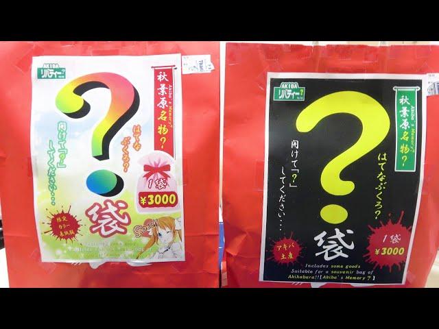 福袋開封チャンネルが秋葉原名物の謎袋の中身を暴くぜ!!【開封動画】